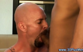 muscle hunk rimmed and sucked