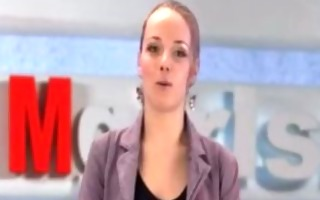 russian moscow beauty doing tv news