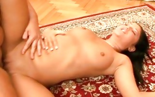 black haired babe with admirable breast acquires