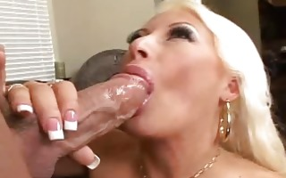blond secretary engulfing a pecker and fucking