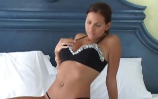 nicole takes a large sex-toy