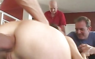spouse watches wife receive her ass...