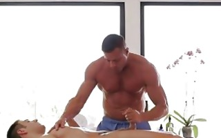 sexy and slow massage with rock hard hands all