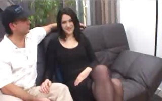 french brunette liza in stockings