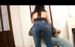 sultry latina with hawt curves on constricted