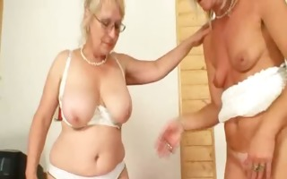 well-endowed grandma permeates a mother i