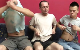 hot studs some gang banging and cum swapping