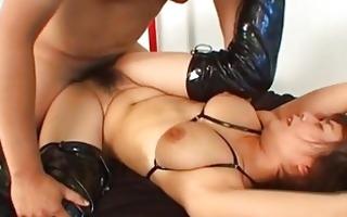 mai haruna slurps a large hard dick uncensored