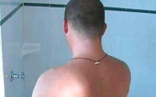 homosexual hunk receives close to orgasm