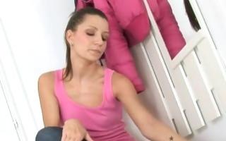 supplementary sexy masturbation in dressing hotel