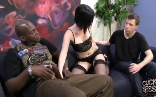 white wife used by bbc in front of cuckold