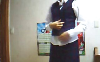 korean dilettante school uniform masturbation