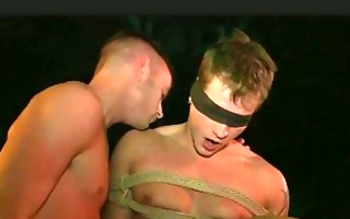 homosexual in slavery acquires kissed and sucked