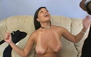 a cheating wife bonks a black stud while husband