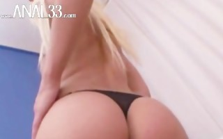 russian federation blonde loves anal playing