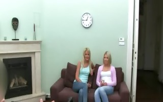 fake agent sexing with blonde cuties