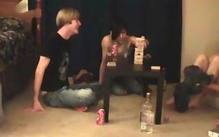 super hot homo teens having a game party homo guys
