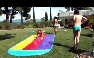 backyard body shots turn into backyard arse shots