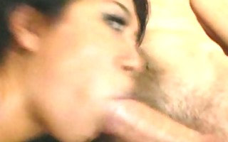 sexy asian receives creampied