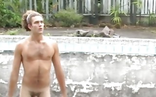 fine looking gay chap takes his shirt off