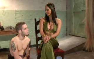 dominating maitresse in the water