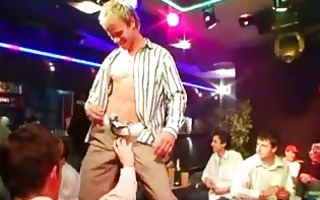 homo lads doing striptease and getting cash