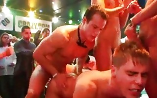 wild gay fellow party with group sex