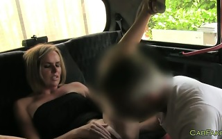 busty golden-haired wife screwed in taxi