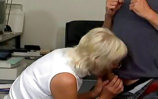 blond eager old mommy fellatio