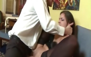 wicked stockinged ass hoe gets screwed