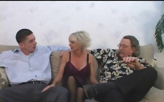 older mamma seduces youthful guy with hubby