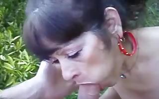 nasty cougar receives deepthroat fucked