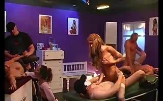 beauty salon bukkake fuckfest