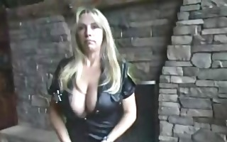 wife clothed as a cop eats trio nut