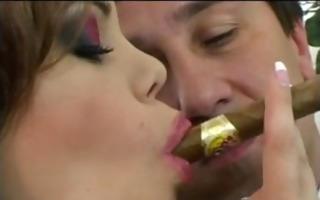 gia paloma cigar smoking double dicking!
