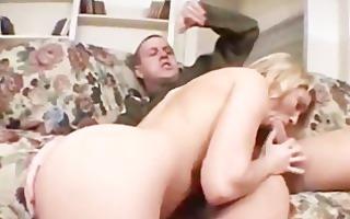 sabrina snow crams gigantic penis in her puss