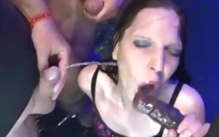 gia drinks urinate and cum in fuckfest