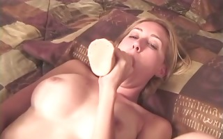 hot youthful golden-haired with a worthwhile set
