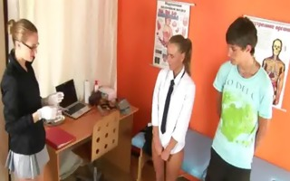 specific medical exam for hawt young pair