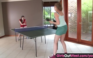cuties out west - lesbo gals tasting their