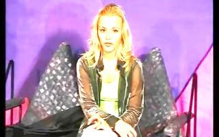 cute golden-haired masturbates at casting - julia