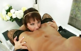 lesbian anal sweethearts using brutal toys