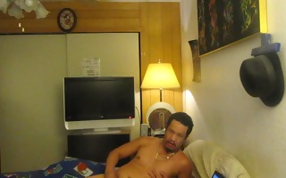eager guy masturbating and came