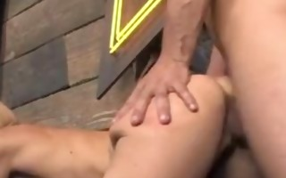monique alexander takes it is from behind on the