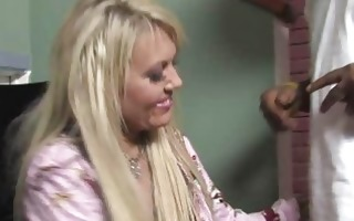 horny son watches his blonde mama screwed by