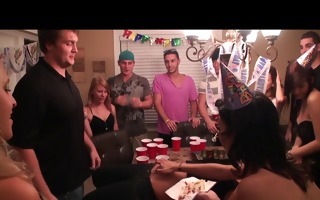 amateur nubiles get drunk and fuck at birthday