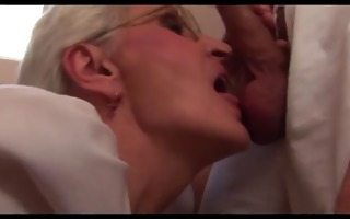 4 grannies and a young boy engulf fuck and cum