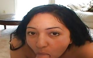 hot breasty latin babe doing face hole fuck