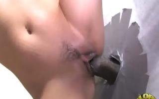 hot wild lady deepthroats at gloryhole 17