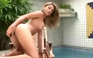 lady-boy anal bating during the time that tugging